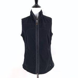 Lucy Sweater Vest Full Zip Fleece w/ Pockets Black